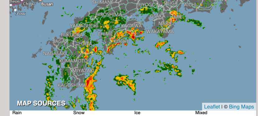 Typhoon on the way